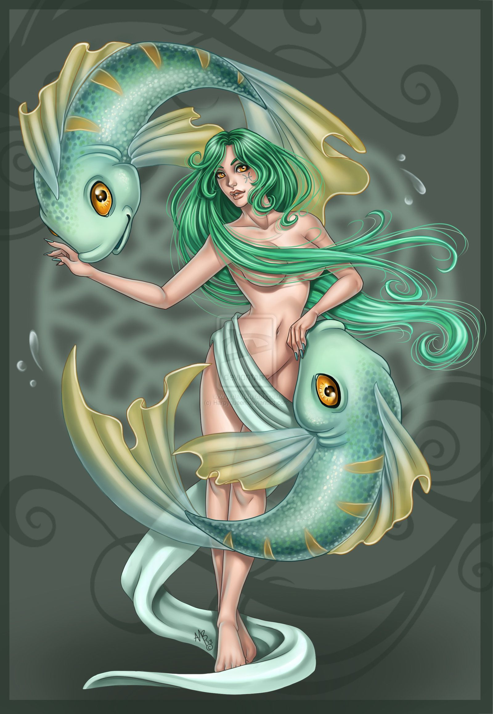 Pisces Commission By Harpyqueen At DeviantART