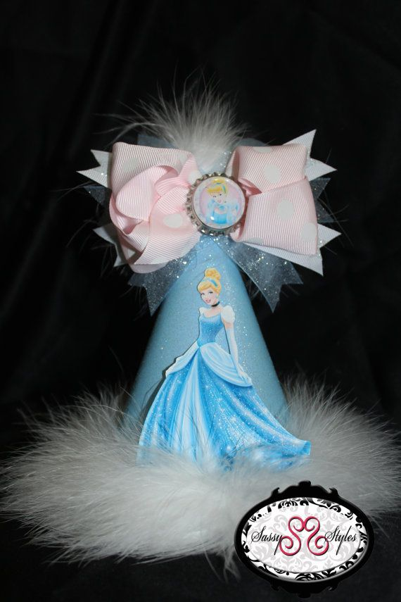Cinderella Birthday Hat Accessory and Bow by SassyStylesbySS, $20.00
