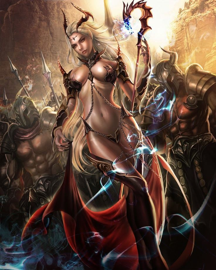 Sexy female warrior fantasy art