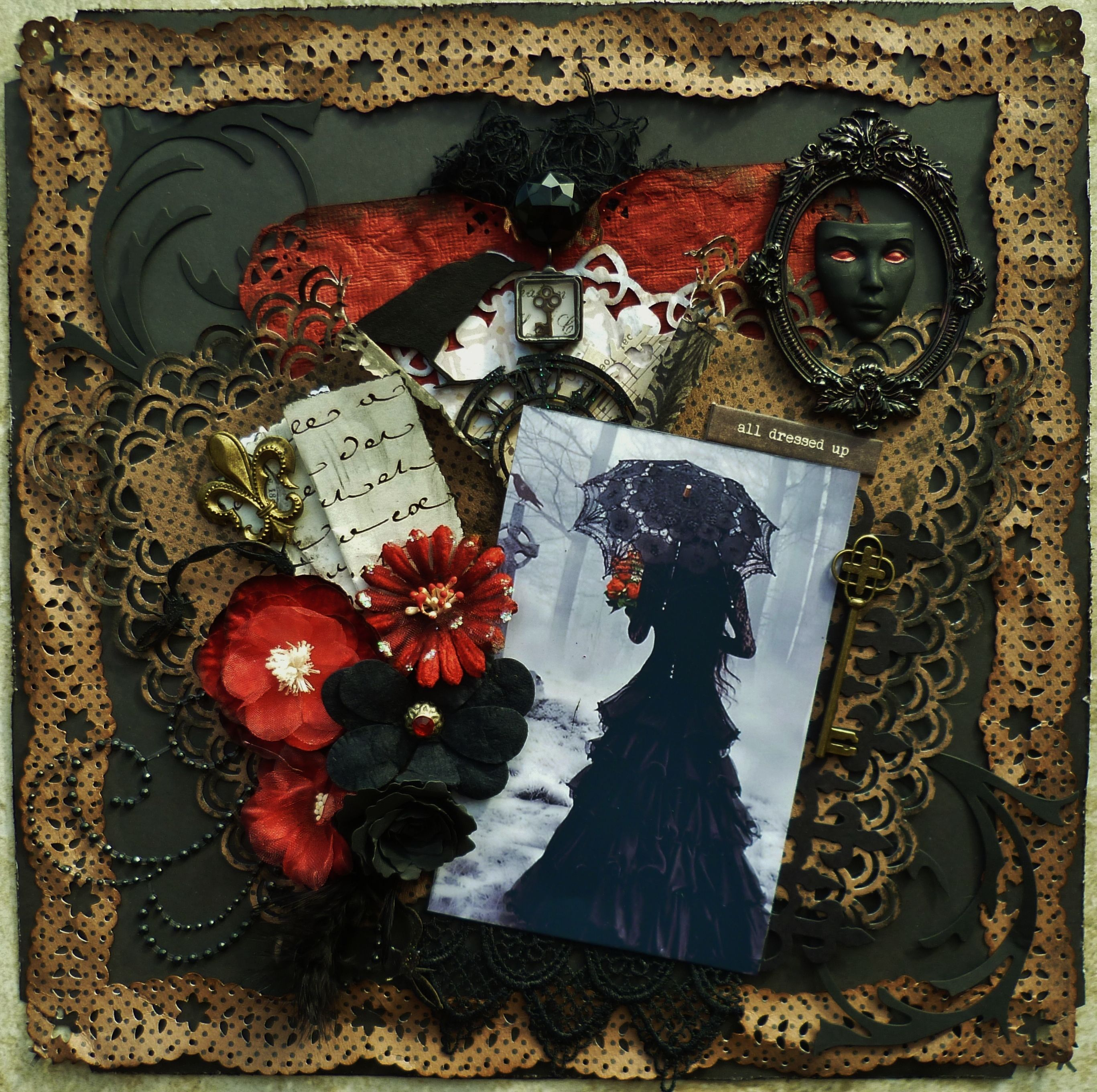 ~Scraps of Darkness~All Dressed Up And No place To Go - Scrapbook.com