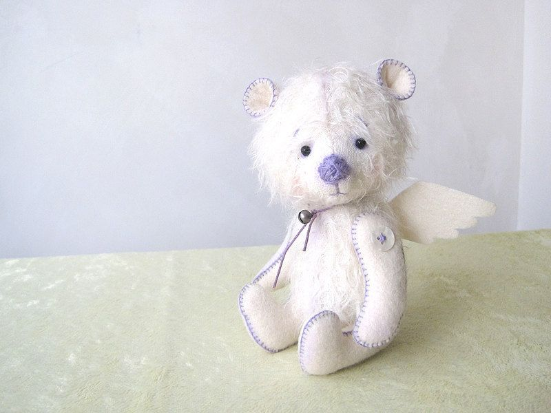 Needle Felted Teddy Bear Angel