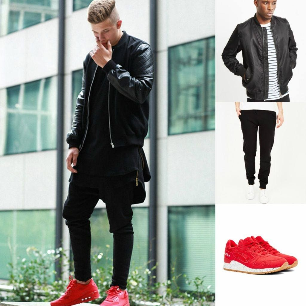 Red shoes outfit, Mens outfits