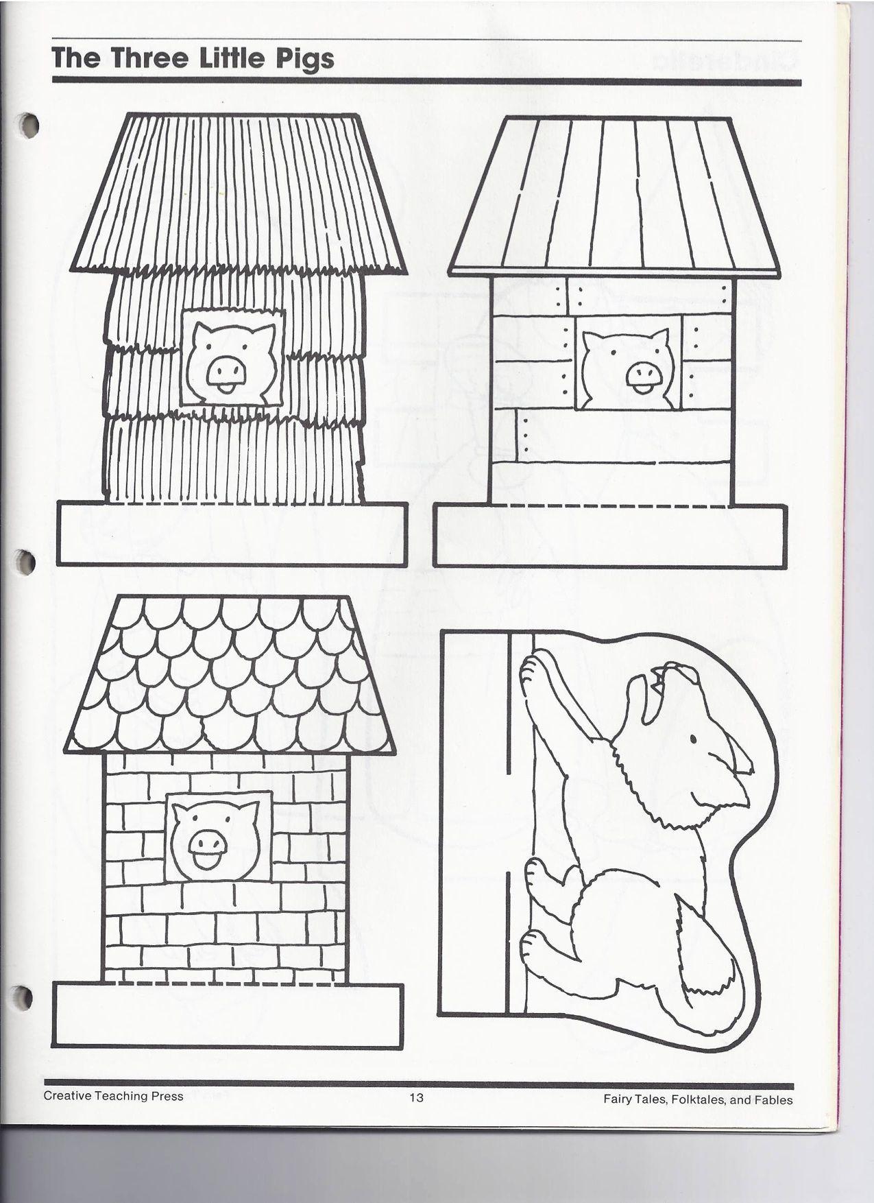 The Three Little Pigs Little Pigs Three Little Pigs Three Little Pigs Houses [ 1754 x 1275 Pixel ]