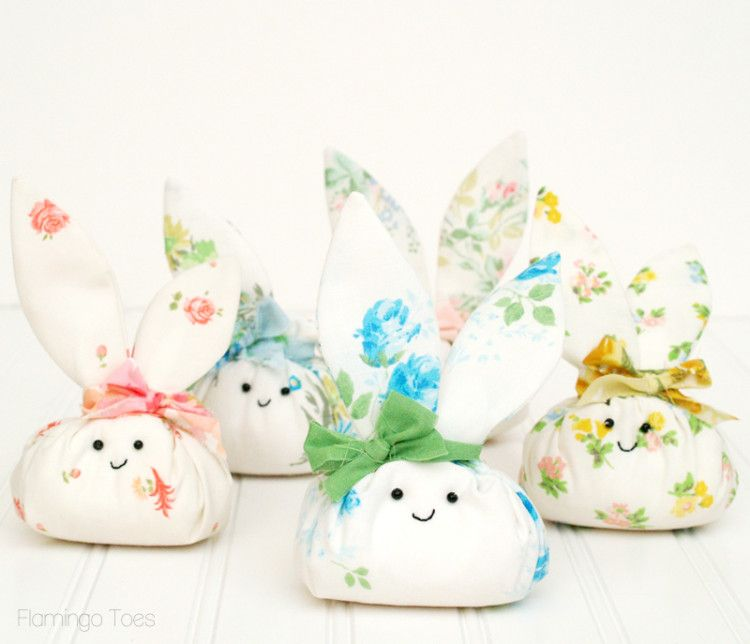 Roly poly fabric easter bunnies easter table basket gift and 18 easy spring sewing projects to help you celebrate the the easter holiday they are easy to make and will help brighten up your space in style negle Image collections