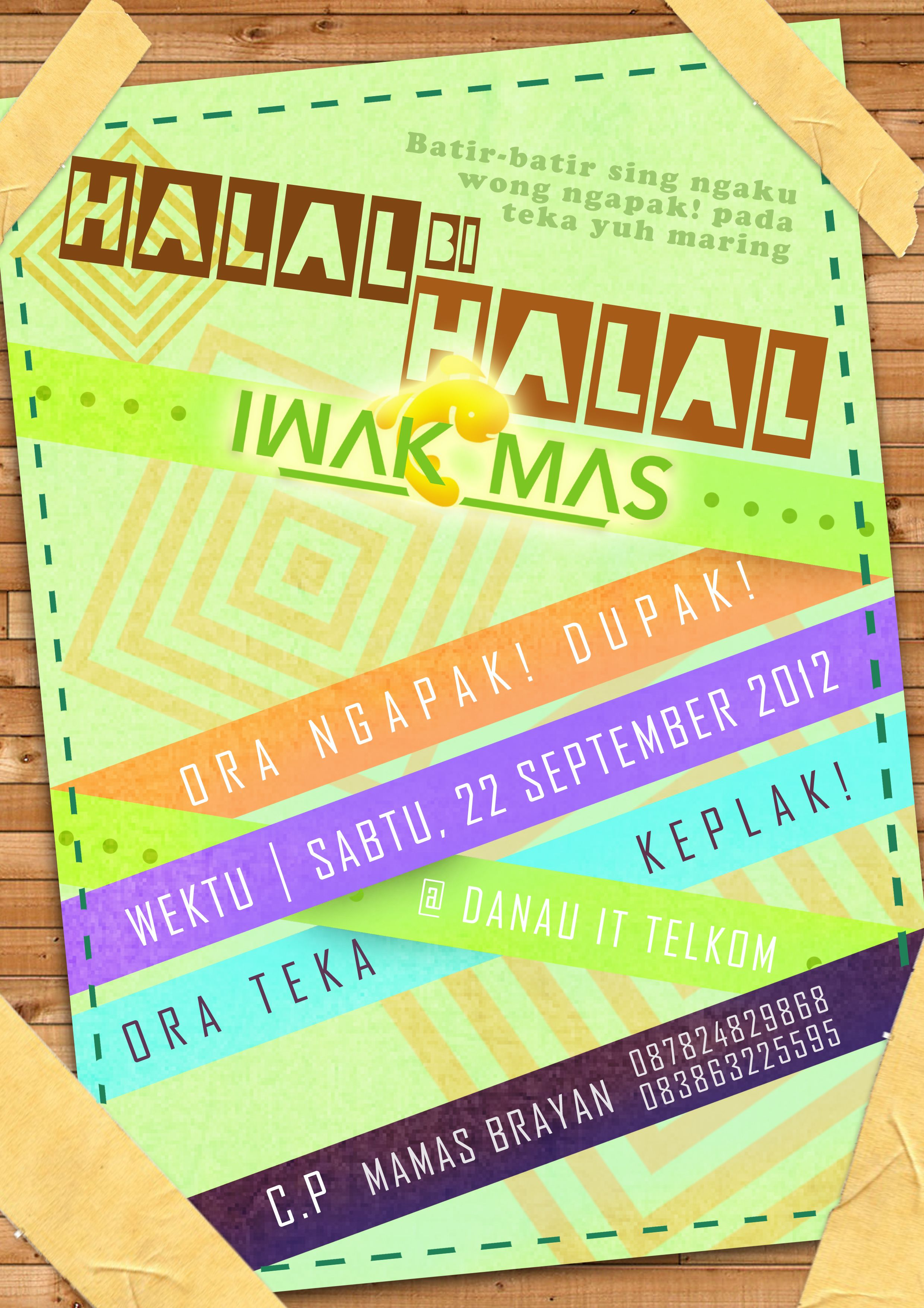 Iwakmas Halal Bi Halal 2012 Poster Work Poster And Pamflets