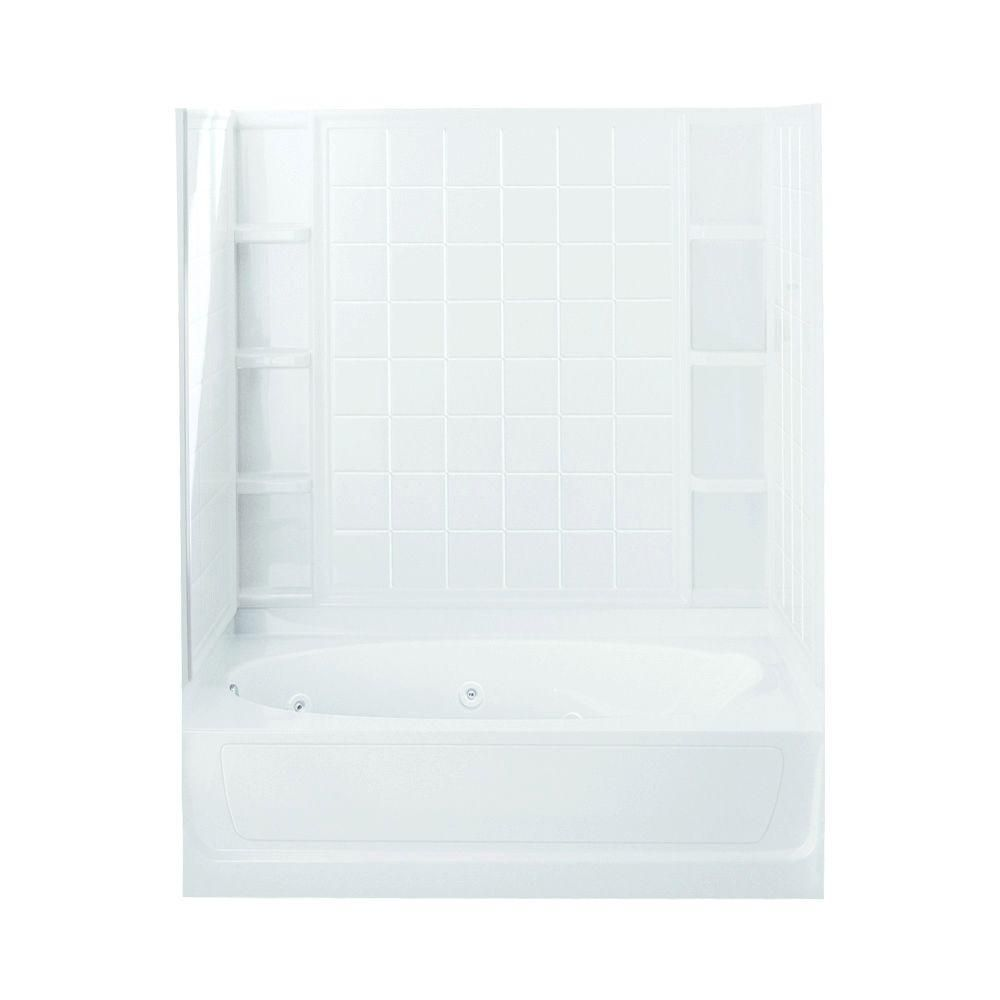 STERLING Ensemble 42 in. x 60 in. x 72 in. Bath and Shower Kit with ...