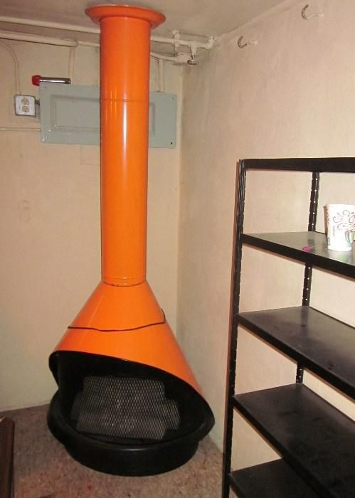 Found on EstateSales.NET: Retro free-standing Fireplace heater