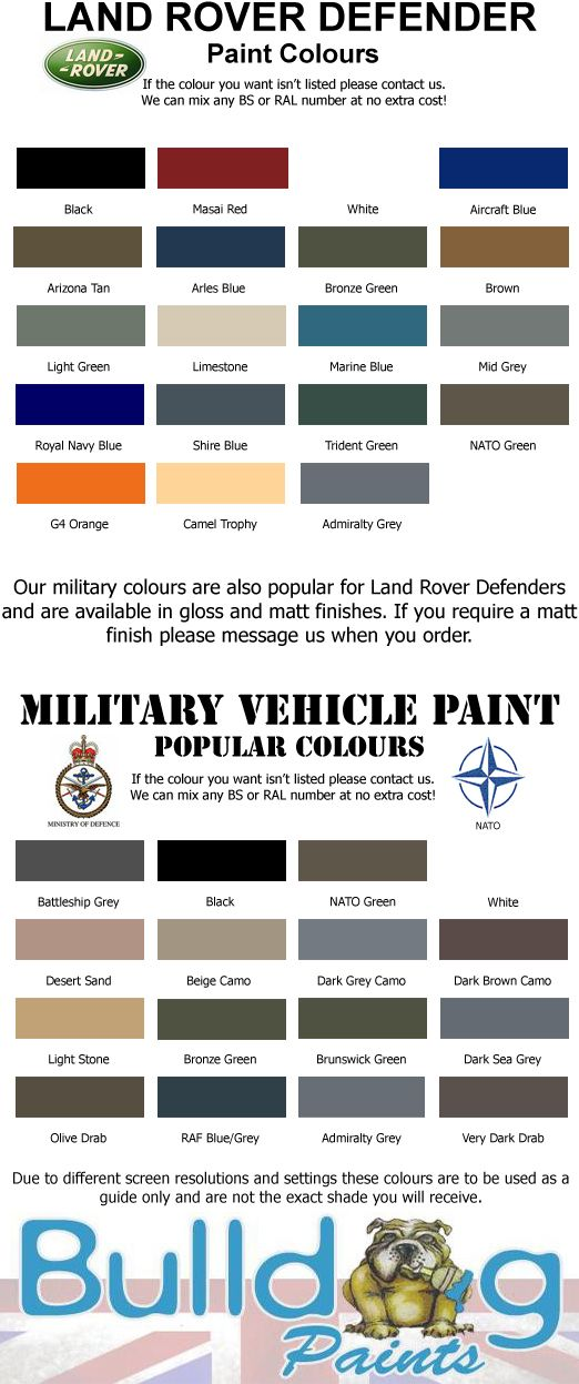 Landrover Colours Land Rover Defender Land Rover Land Rover Series