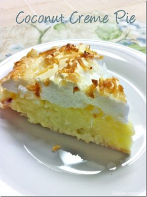 Homemade Coconut Creme Pie.  Add a gluten free crust, the filling is gluten free!