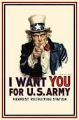 """Uncle Sam was a propaganda figure head. The slogan """"I Want You For U.S. Army"""" was very common during WWI"""