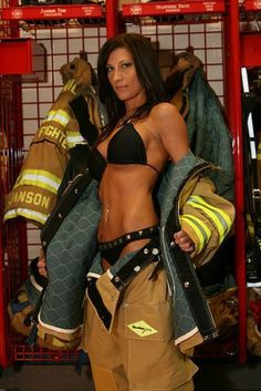 firefighter Hot calendar female