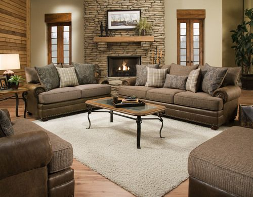Magnificent 2 Pc Albany Burbank Earth Sofa Loveseat Set 8646 So Ocoug Best Dining Table And Chair Ideas Images Ocougorg