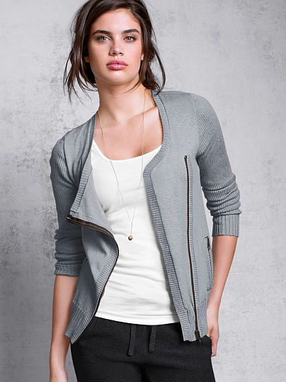Shared Via JustSales: A kiss of cashmere and a moto-inspired, asymmetrical zipper lend an indulgent feel and modern look to the layering essential. From our collection of luxe feather-soft sweaters, dreamy to wear day to night. Slim fit Lightweight Soft and luxurious Hits at waist Imported cotton/viscose/cashmere