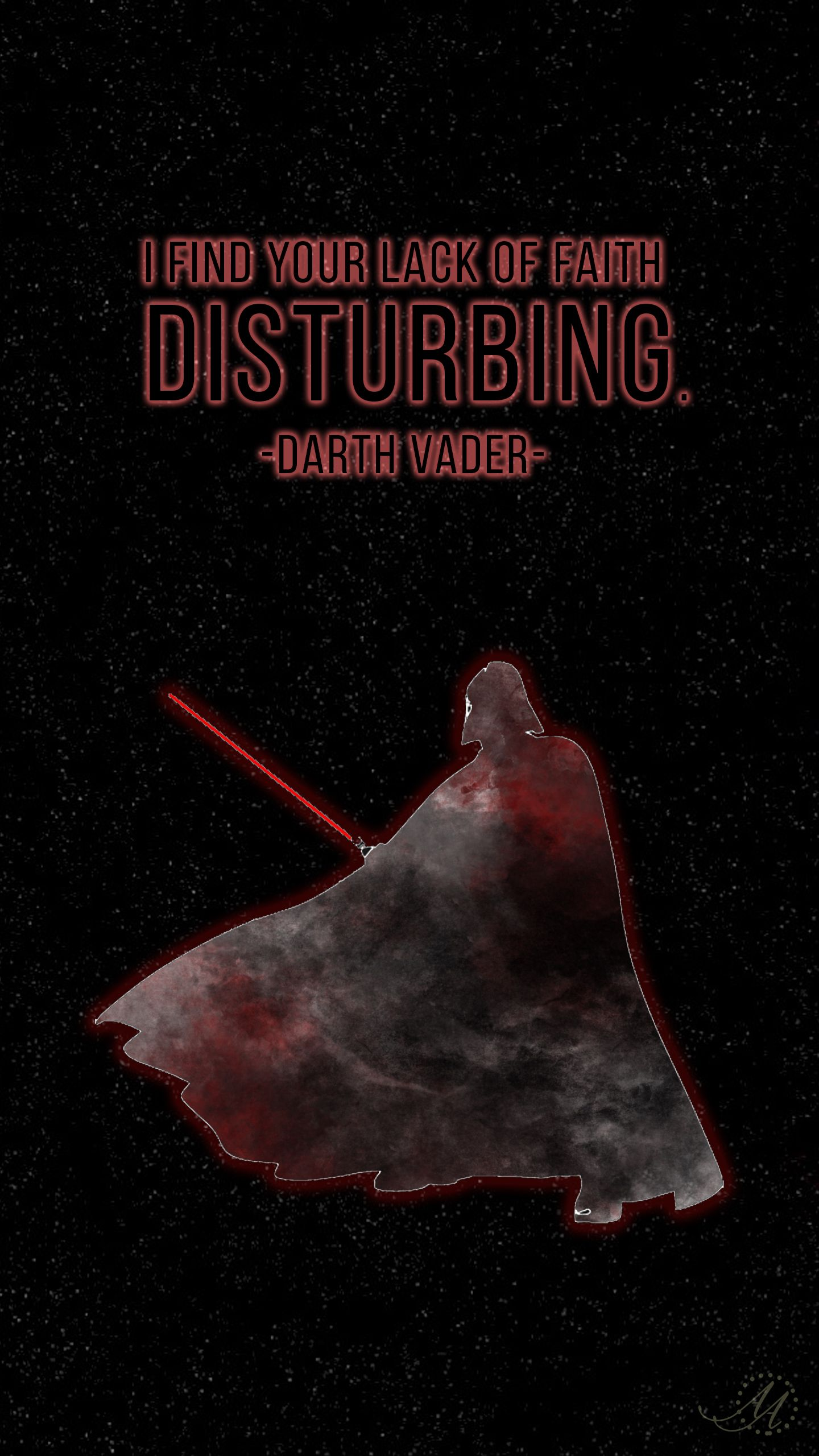 I Find Your Lack Of Faith Disturbing Darth Vader Star Wars