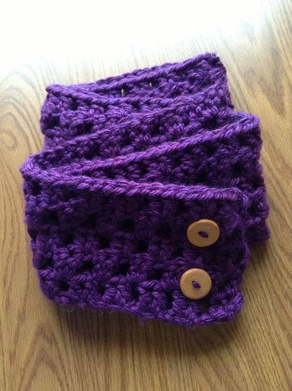 Crochet Infinity Scarf with Buttons