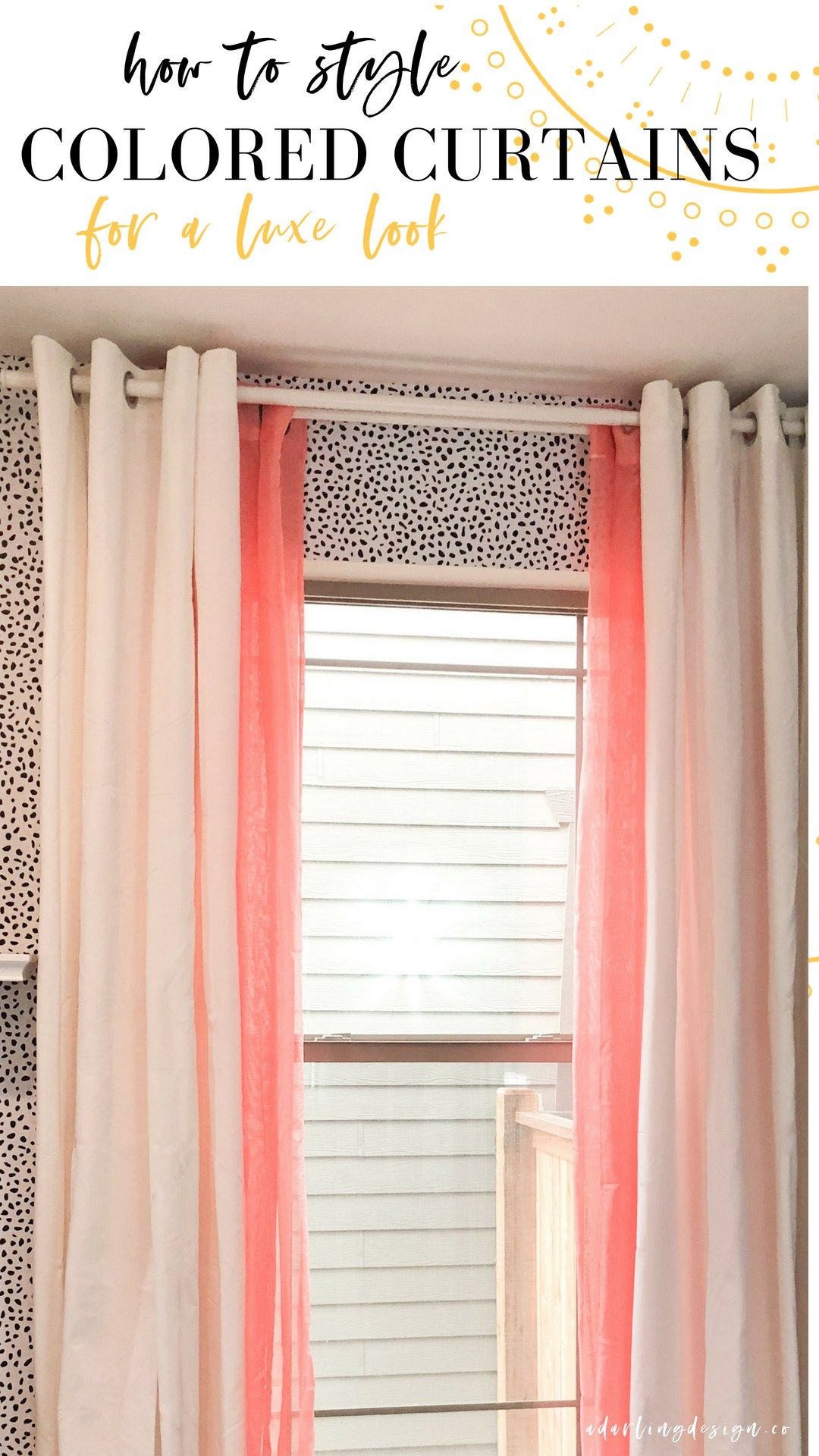 Heres How To Style Colored Curtains Some Simple Curtain Tips