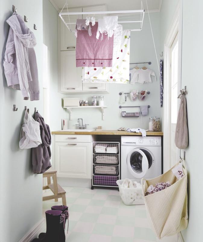 Cómo organizar el cuarto de la plancha y la lavadora | cuarto de ...