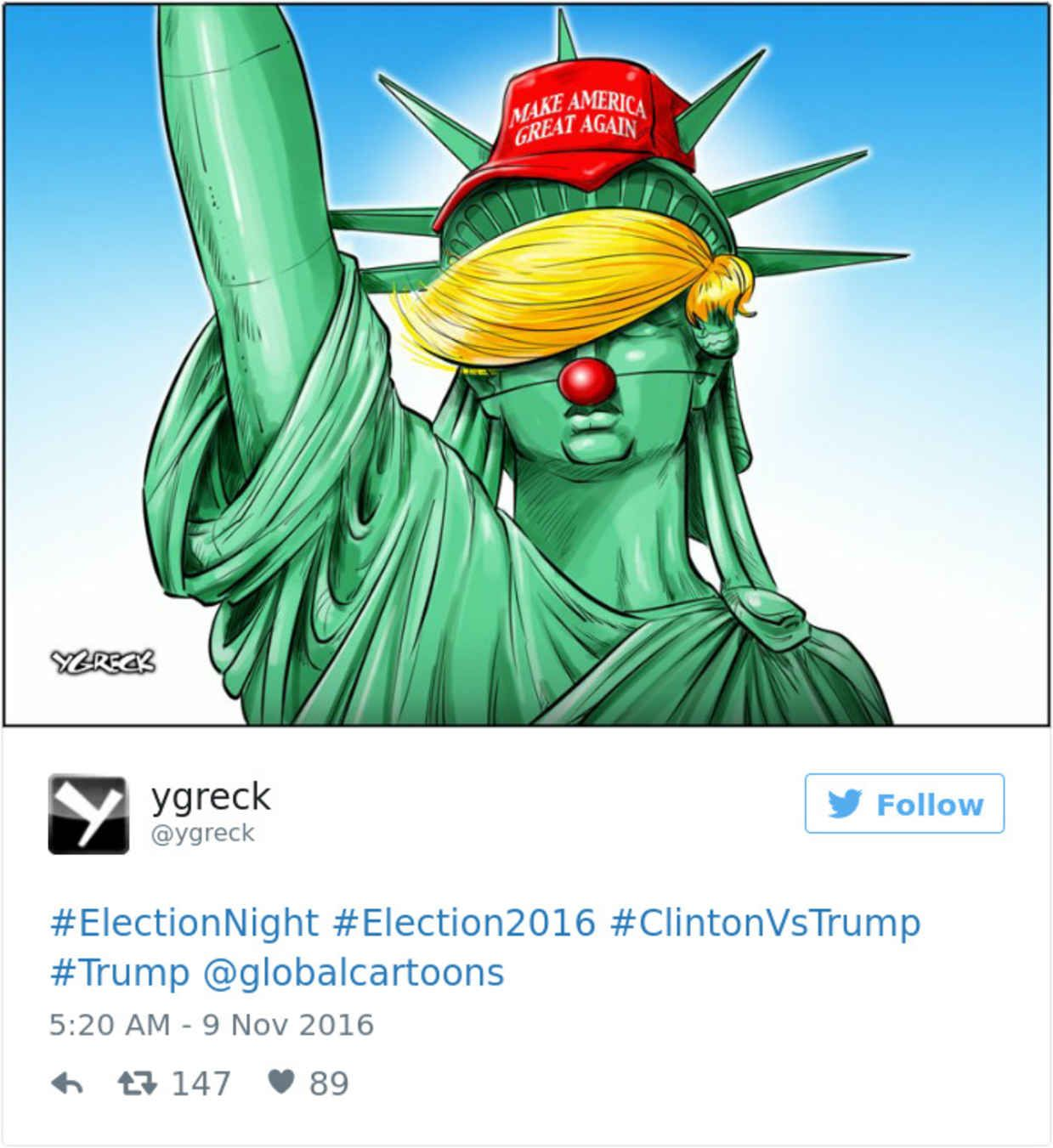 Cartoonists From Around The World Respond To Trumps Election - 22 cartoonists from around the world respond to trumps election win