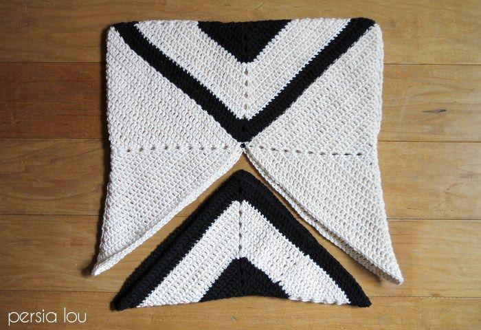 Modern X Crochet Pillow Pattern | Ganchillo y Patrones