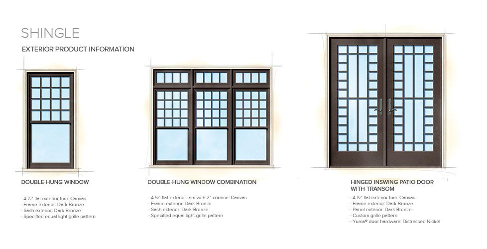 Ranch Home Style Window Door Overview We could do a casement and picture window combination with  sc 1 st  Pezcame.Com & Door Shingles u0026 These 3\u0027 Long With 12\