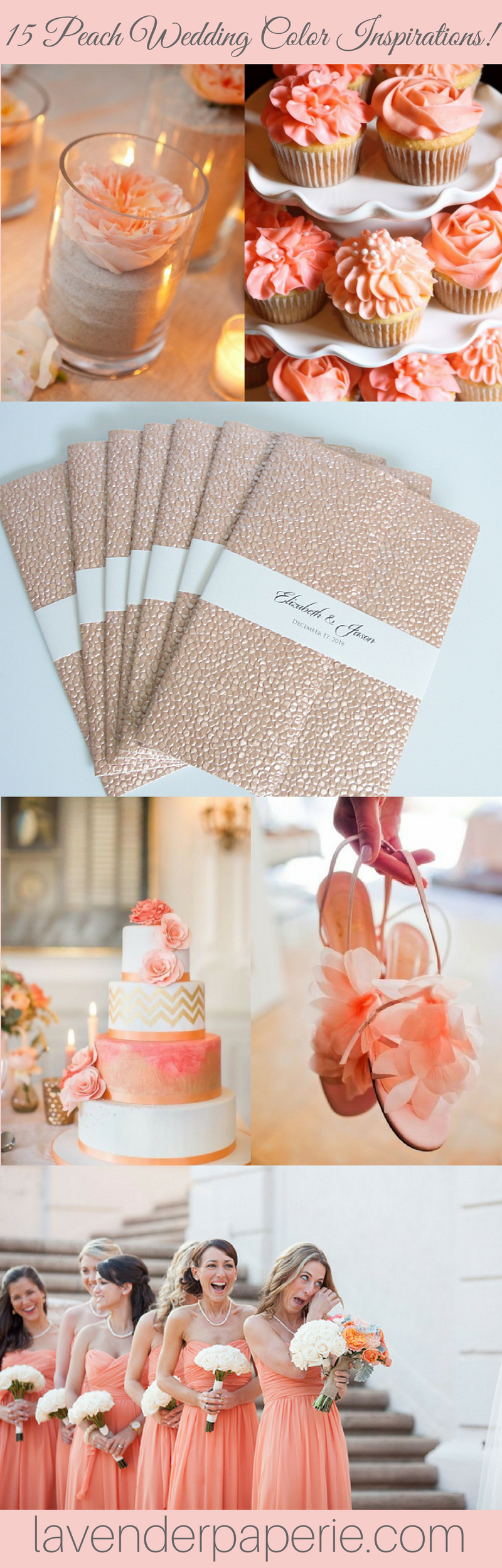 Wedding decoration ideas peach   Peach Wedding Color Inspirations  party ideas  Pinterest