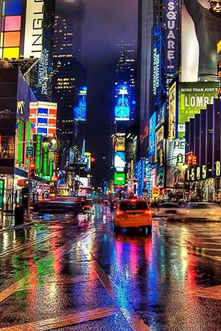 Times Square At Night Wallpaper Iphone Wallpaper