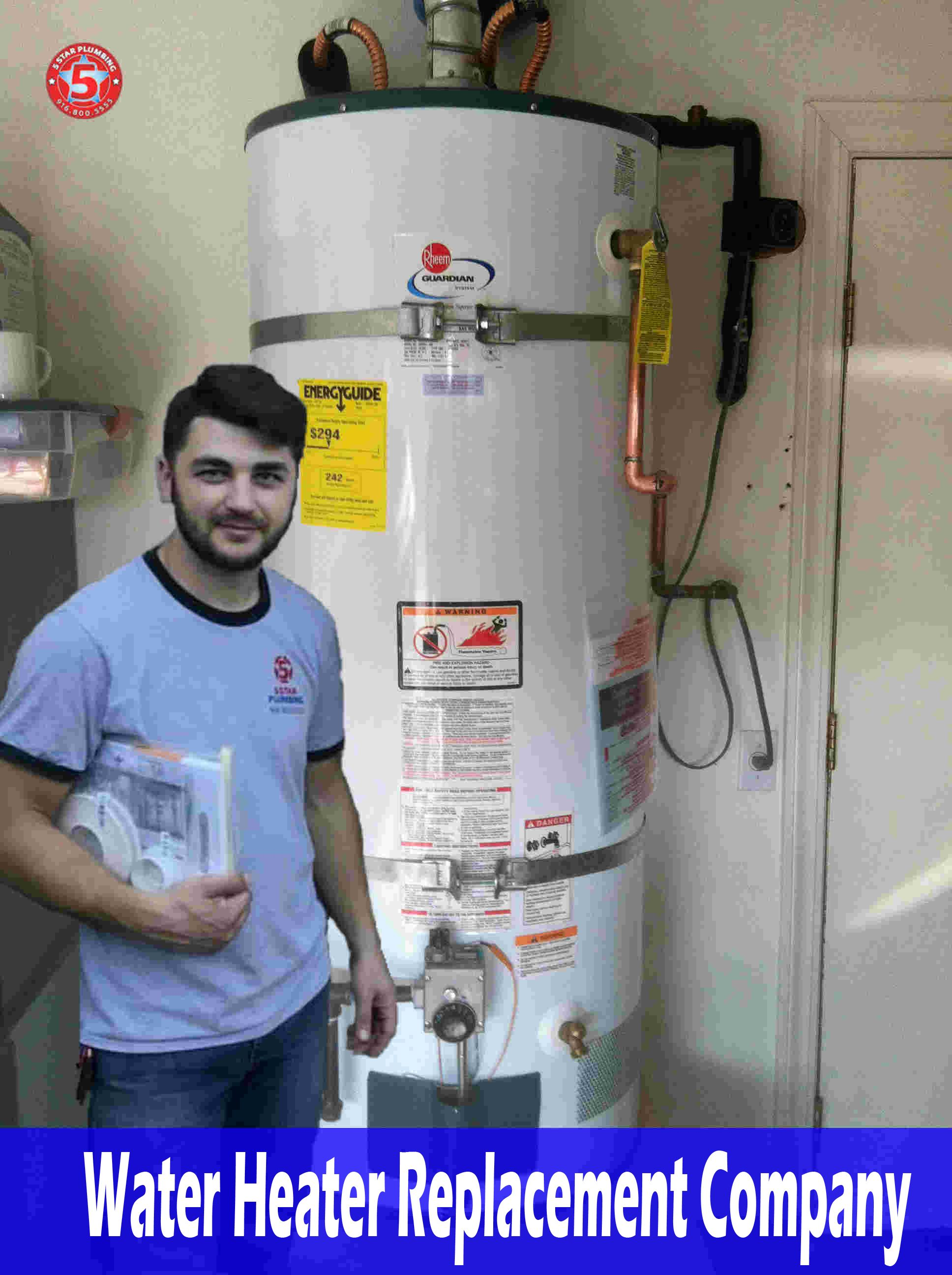 If you're replacing a water heater, you can replace it