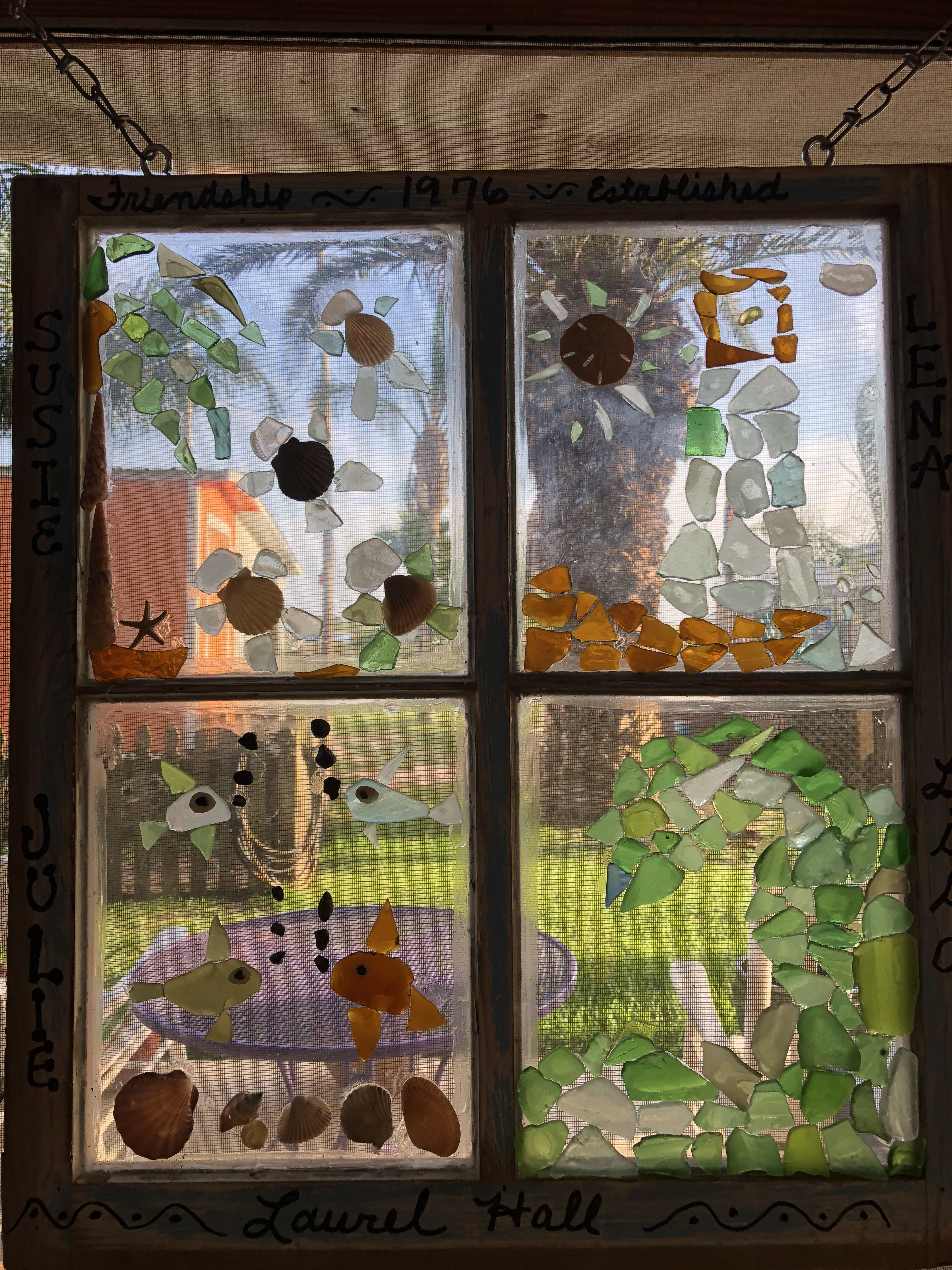 4 Window Panes Each One Created By College Roommates To