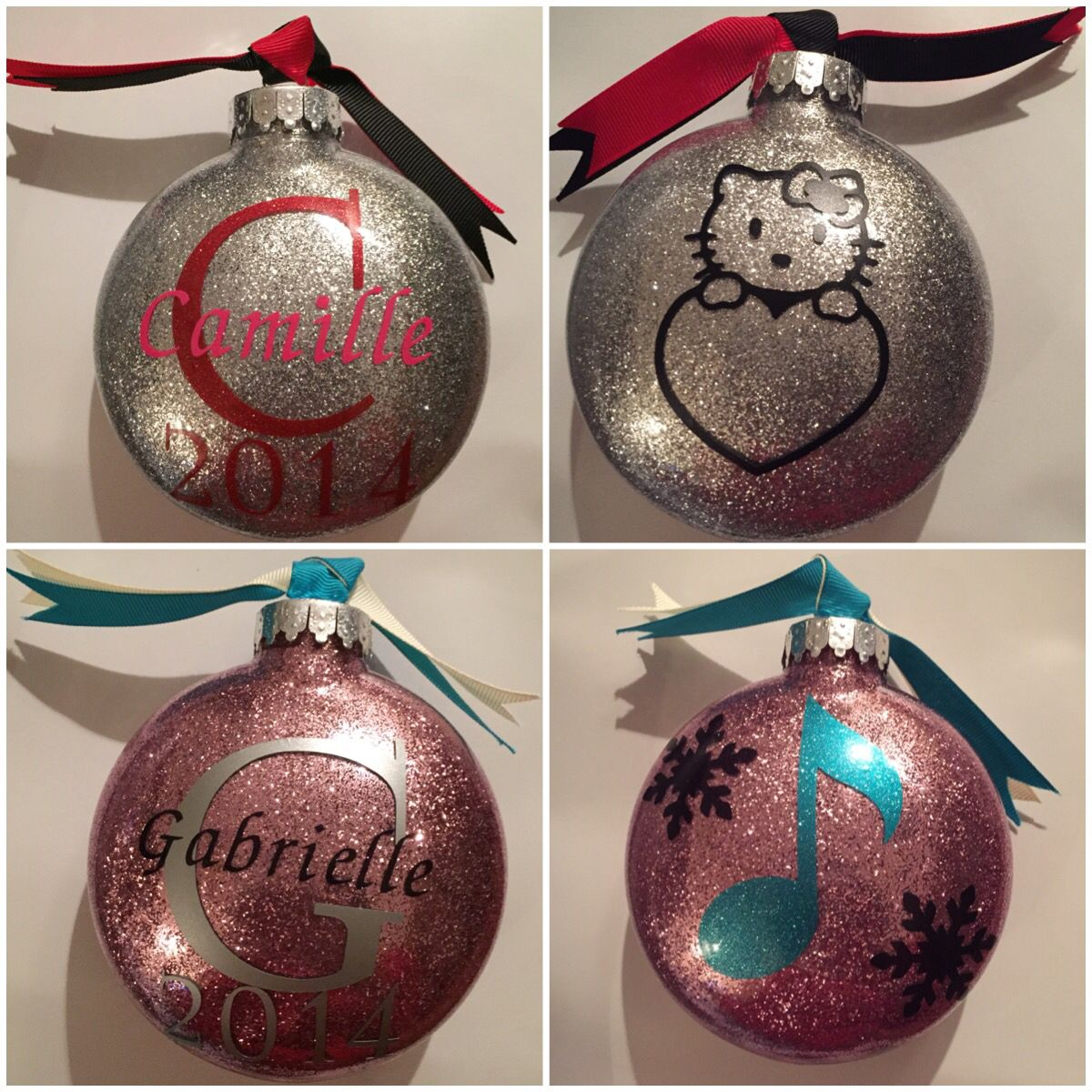 Hello Kitty and a Young Musician. DIY ornaments