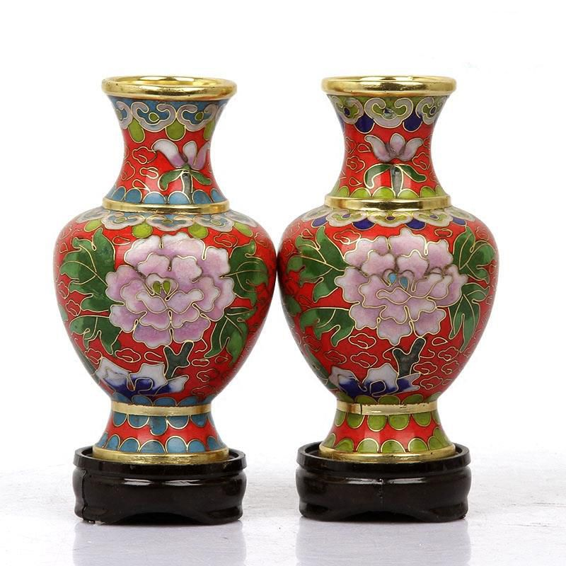 1pair2pcs Vase Ornament 4inches Home Decoration Chinese Handmade