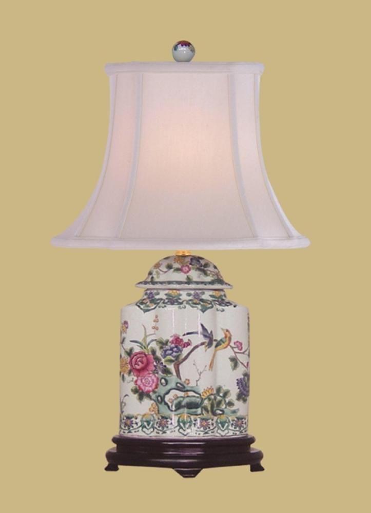 Oriental Porcelain Scallops Tea Jar Lamp : LPDMJ0810A