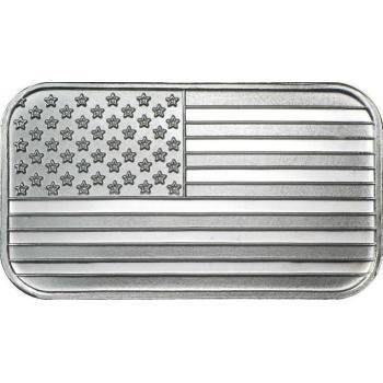 1oz Silver Bar American Flag .999 Bullion