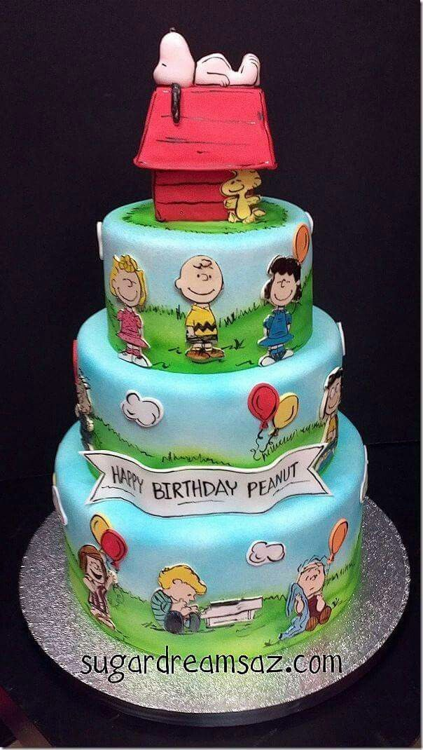 sweet Peanuts Comics birthday cake Sweet Ideas Pinterest Cake
