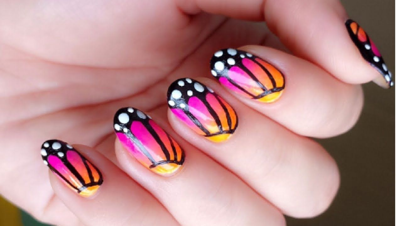 Starburst Nail Art Design