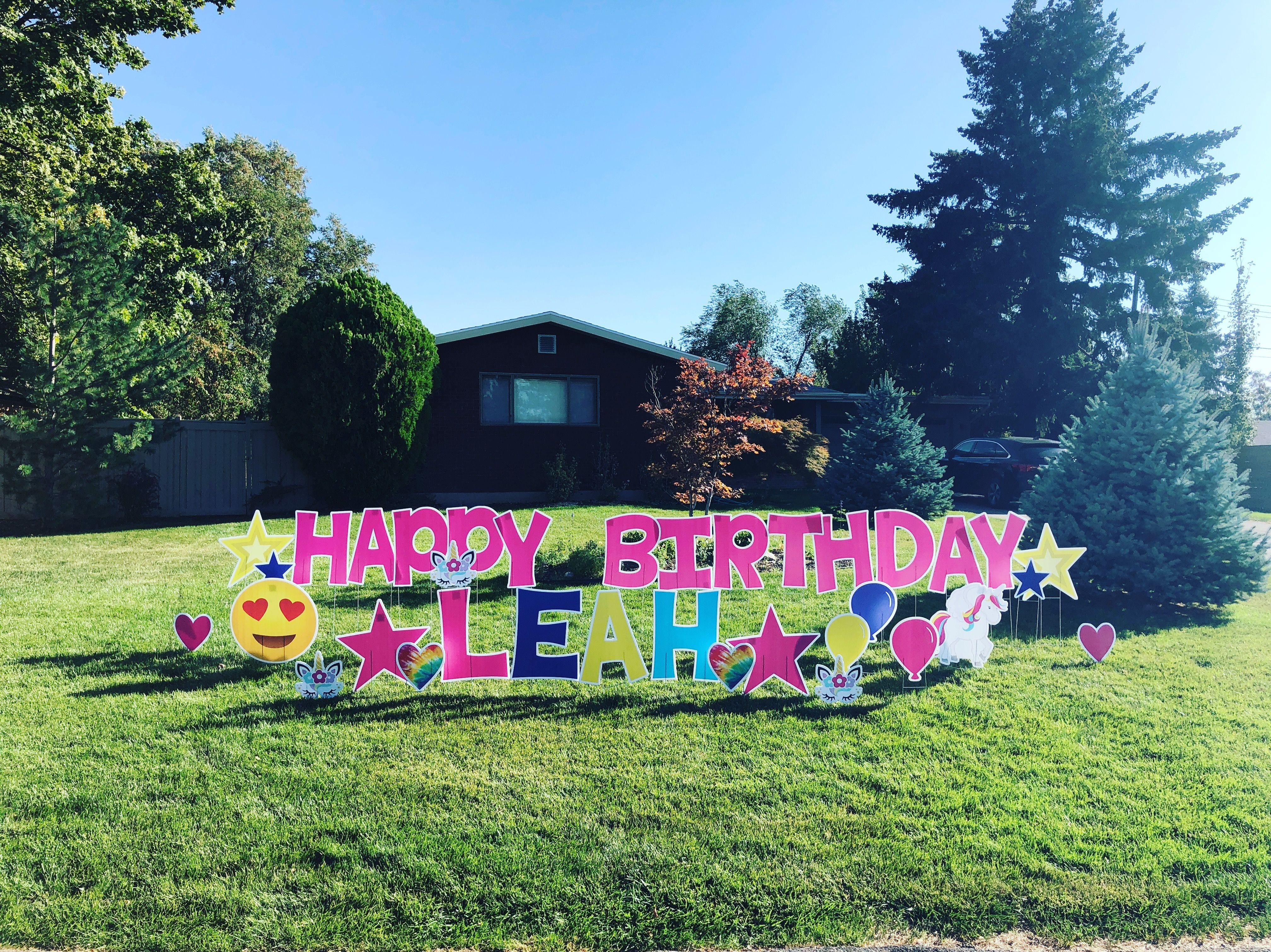 Happy Birthday Yard Sign Happy Birthday Yard Signs Birthday Yard Signs Happy Birthday Signs
