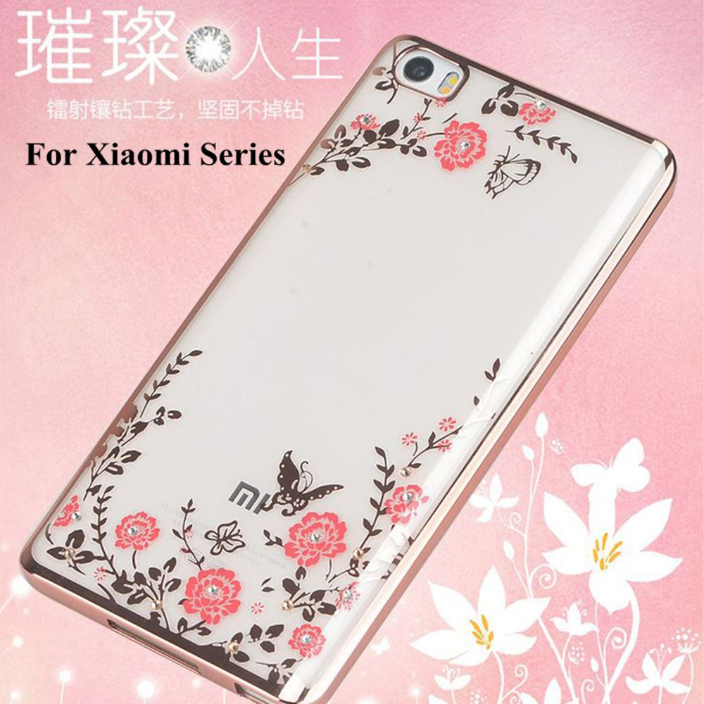 info for 101b9 5f9ef Luxury Diamond flowers Pattern Back Cover Soft TPU Phone Case For ...