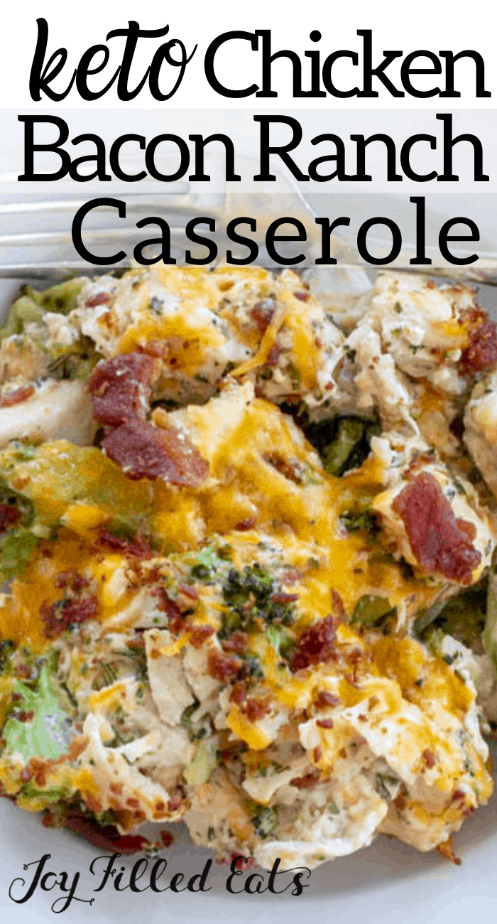 This casserole is a hit with kids and adults. It is quick, easy, and so comforting. With cooked chicken, bacon crumbles, and frozen broccoli you can get it in the oven in just 10 minutes! It really is cheesy, bacony, and filling.This Bacon Ranch Chicken Casserole is one of my favorite low carb chicken recipes ever.    bantingrecipes #bestlowcarbrecipes #lowcarbchickenrecipes #broccolirecipes #cookingrecipes #thmrecipes #healthrecipes #lunchrecipes #dinnerrecipes