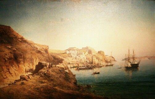 Algérie - Peintre Français Vincent Courdouan (1810-1894), Huile sur