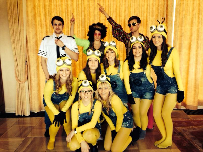 minion group costume costume ideas pinterest. Black Bedroom Furniture Sets. Home Design Ideas