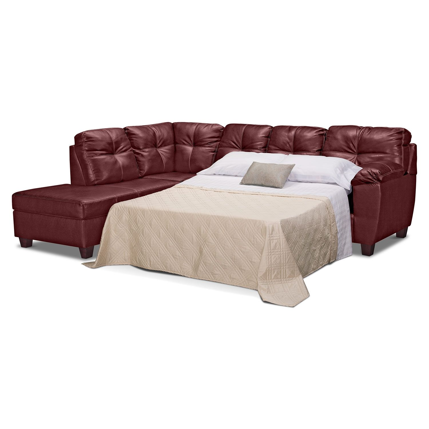 memory foam sleeper sectional w chaise rev