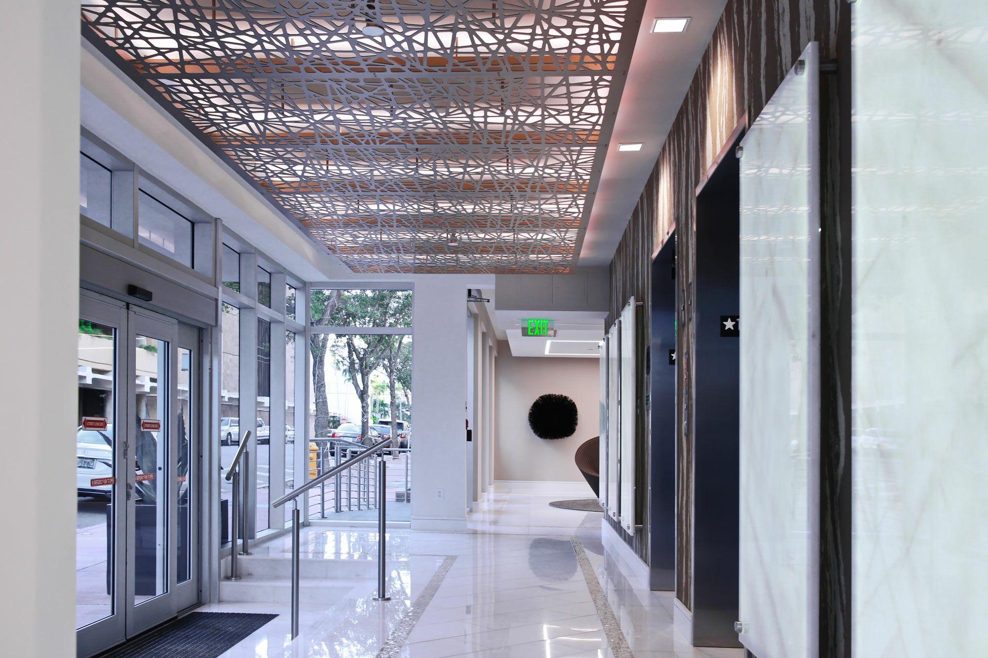 Decorative Screen Ceiling Panels Lobby Design Bronze Aluminum