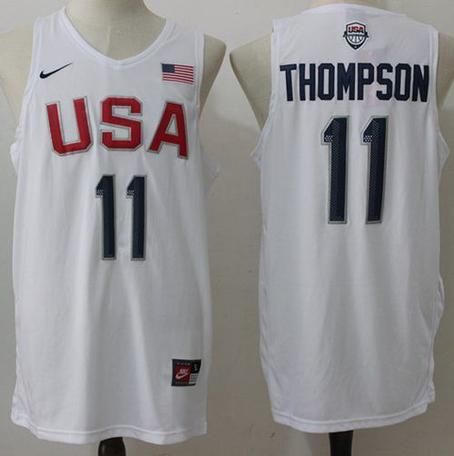Nike Team USA  11 Klay Thompson White 2016 Dream Team Stitched NBA Jersey 74a20061c