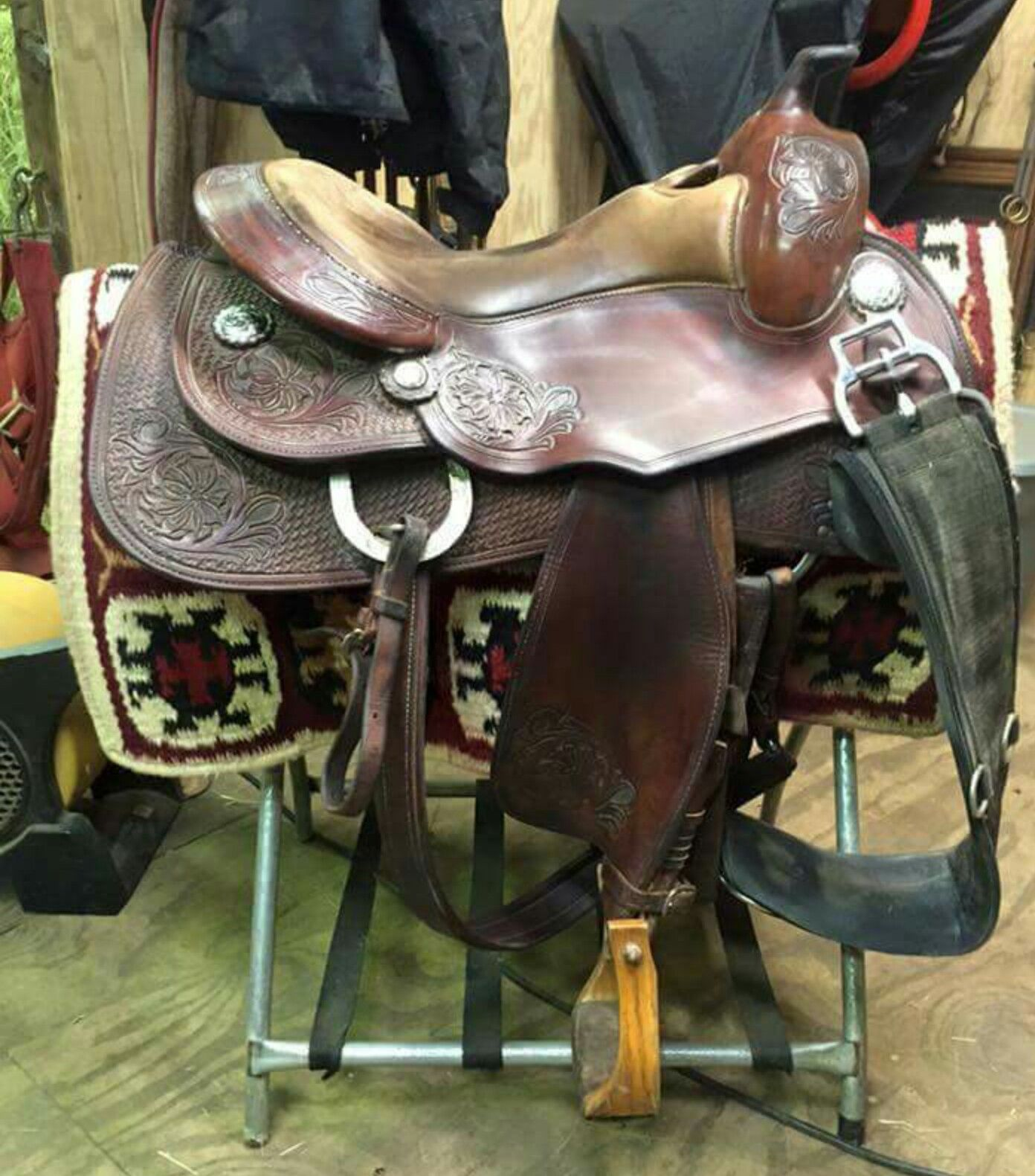 33664f3f8 15.5 Continental reining saddle $1,800 used | Horse- Tack | Saddles ...