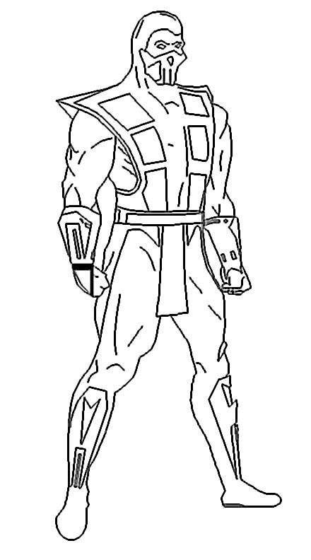 Mortal Kombat Coloring Pages Free Enjoy Coloring