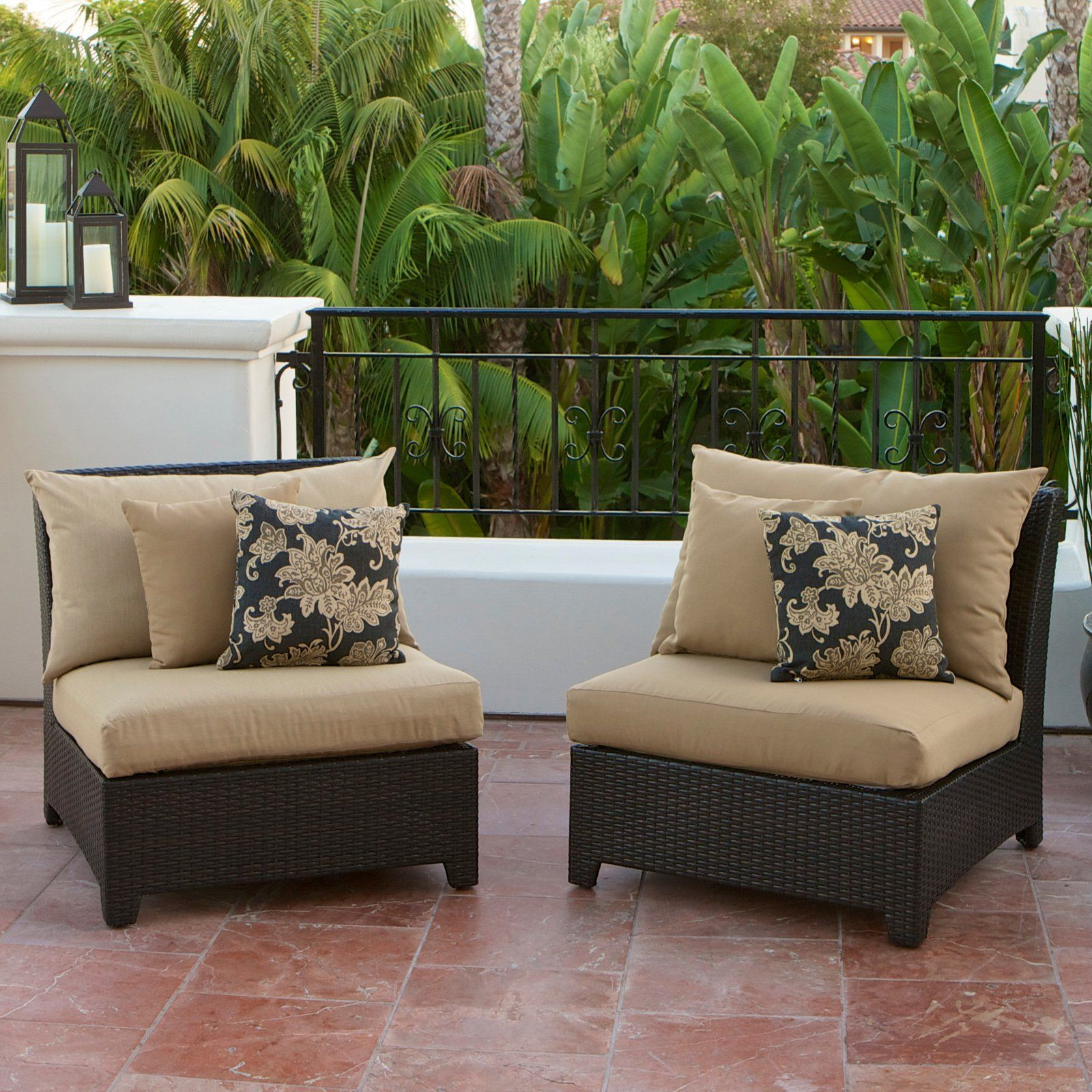 RST Outdoor Delano Armless Chair - Set of 2 | from hayneedle.com
