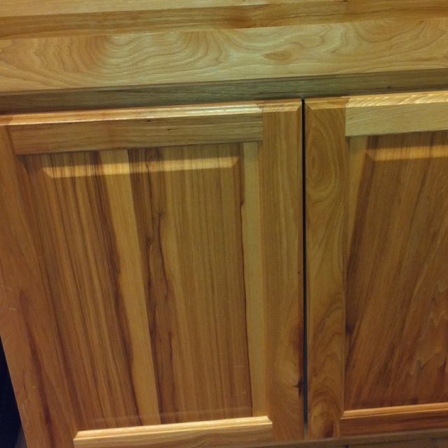 Hickory cabinets from Home Depot. Beautiful! | Hickory ...