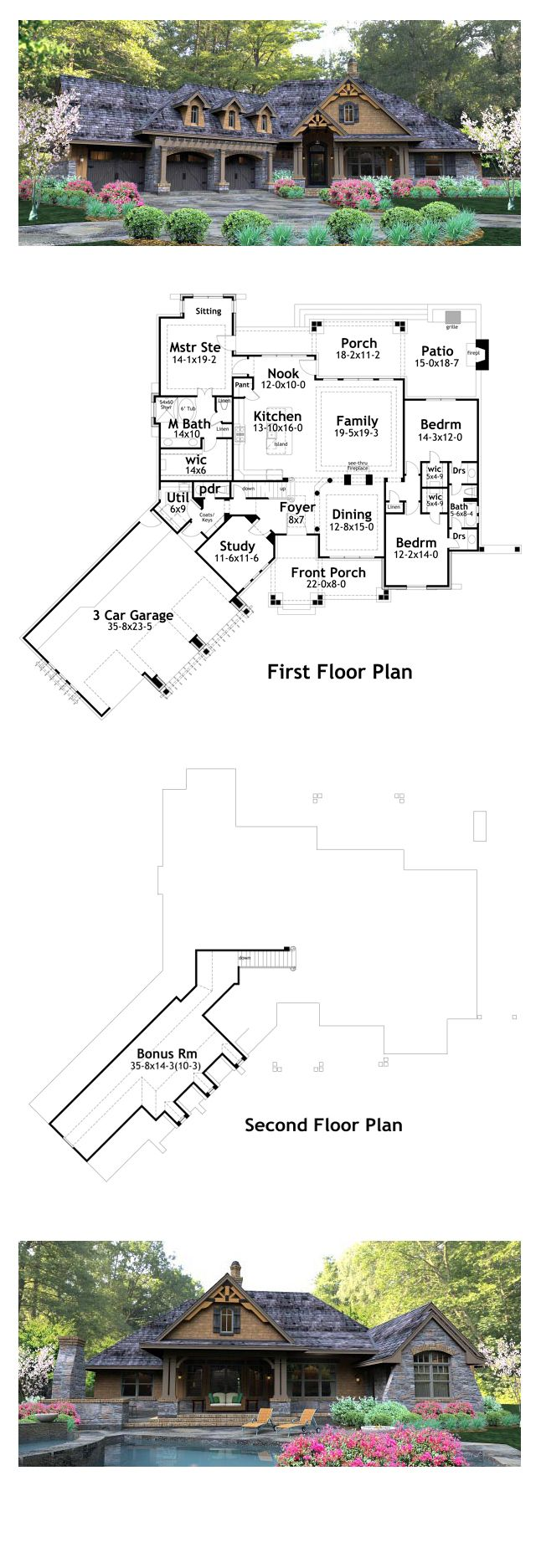 Tuscan House Plan 65877 Total Living Area 2495 Sq Ft