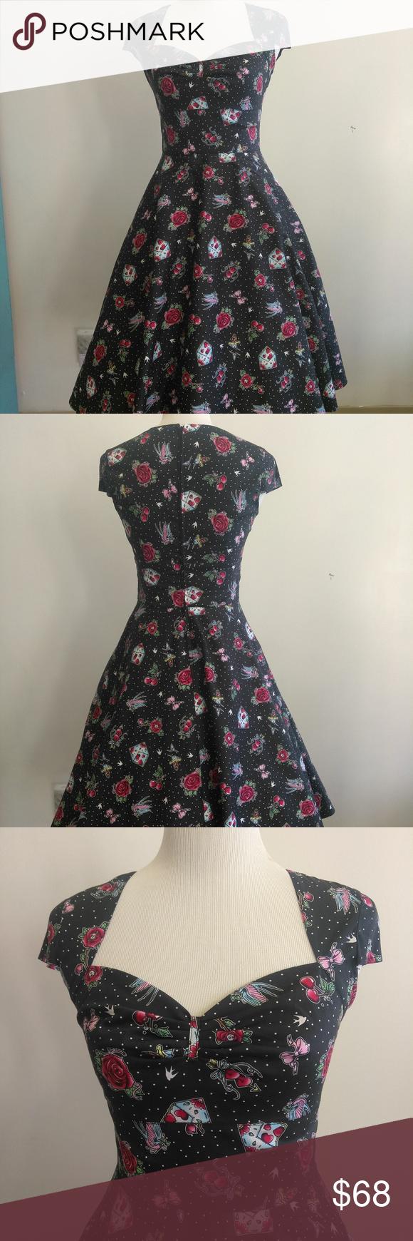 9a2db11954f7 Stevie Tattoo Art Swing Dress Printed 50's style swing dress Print is  inspired by flash art