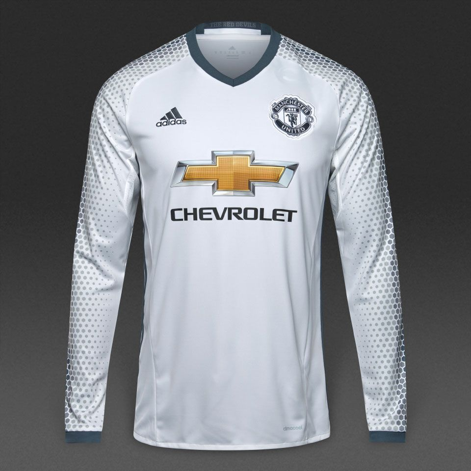 c93bd257cd90 adidas Manchester United 16 17 LS 3rd Shirt - White Bold Onix ...