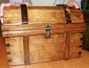 Pirate Treasure Chest Medium Size All Wood Handcrafted | eBay